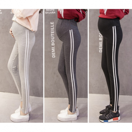 Cotton Soft Maternity Legging Korean Fashion Pregnant Women Yoga Pants Elastic Adjustable Nursing Mummy Long Pants Ready Stock 319990