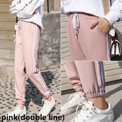 Korean Fashion Women Pants Sports Jogger Harem Long Trousers Sport Long Pants Casual Joggers Ready Stock 119918