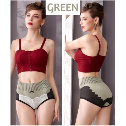 VIRENE High Waist Women Panties Sweet Palace Style Ladies Panty Abdomen Butt Lifter Woman Underwear Ready Stock 151140