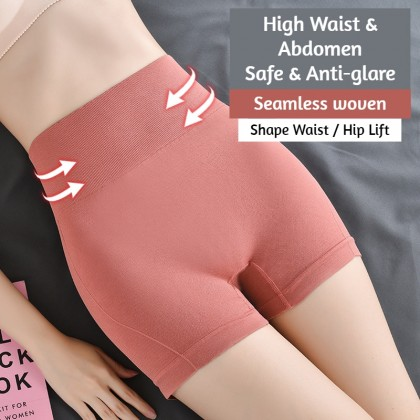 VIRENE Women Fitness Pants Seamless Abdomen Shaping Pants Butt Lifter Girdle Barbie Pants Yoga Sports Safety Pants Ready Stock 170911