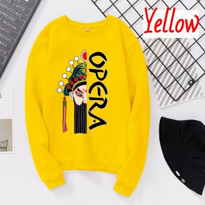 VIRENE Opera Sweater Women & Men Sweatshirt Casual Long Sleeve Shirt Loose Outerwear Jacket Couple Wear Baju Viral Ready Stock 261802