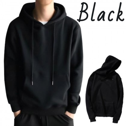 Korean Style Men Hoodies Sweatshirt Loose Sweater Outerwear Casual Jacket M - 3XL Unisex Baju Viral Ready Stock 271901