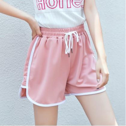 VIRENE Women Sport Pants Ladies Short Pants Casual Wide Leg Seluar Sukan Pendek Wanita Seluar Pendek Ready Stock 119911
