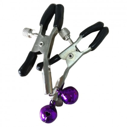 1 Pair Nipple Clamp Jewelry Shake Milk Stimulate Fetish Breast Clips with Bells Women Breast Massager Nipple Clip Bell Adult Toys 情趣乳夹 Premium Quality Ready Stock 091112ST