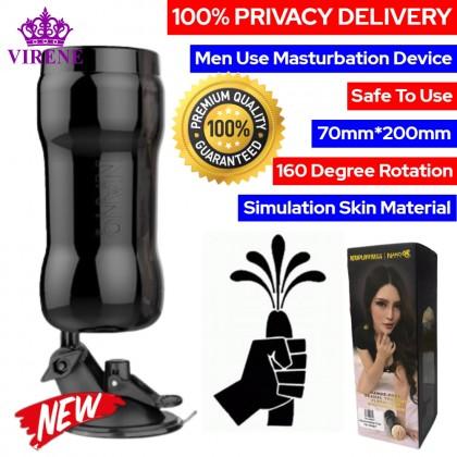 Nano Jeuplay Hands-Free Sexual Training Fleshlight Masturbation Device Real Vagina Mastubator For Men Adult Toy Alat Lancap 飞机杯 男用自慰杯 Ready Stock 751184ST
