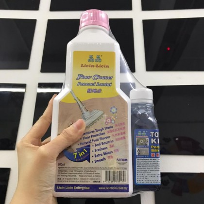 Licin Licin 7 IN 1 Floor Cleaner FREE Toilet Cleaner 100% Authentic Antibacterial Disinfectant Wax Polish Concentrated Eco Friendly Essential Oil For Wood Hard Surface Pencuci Lantai 晶晶地板清洁剂 拖地水 Ready Stock