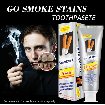 100% Original Disaar Smoker's Toothpaste 60% Stain Removal Teeth Whitening Mint Fresh Tooth Paste (SGS GMP & SGS ISO 22716) Ready Stock 750000ACB
