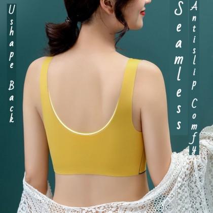 Thai Latex Bra Women Wireless Push Up Sport Bra Comfy Beauty Back Vest Bra Premium Quality Elastic Sleeping Bra Ready Stock 119618