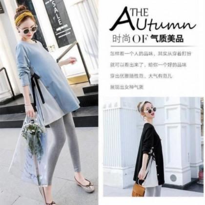 Korean Fashion Maternity Skirt Shirts Plus Size Nursing Mum Blouse Pregnant Women Long Sleeve Top Baju Lengan Panjang Ibu Mengandung Ready Stock 322446