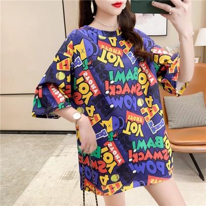 Korean Fashion 2021 Summer Blouse Women T-Shirt Loose Top Casual Short Sleeve Shirt Basic Outfit Baju Viral Murah Ready Stock 214442