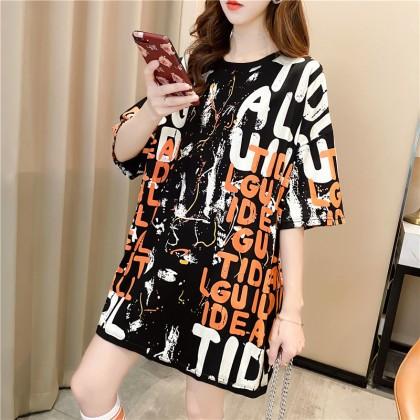 2021 Summer Blouse Women T-Shirt Korean Fashion Casual Short Sleeve Shirt Loose Top Basic Outfit Baju Viral Murah Ready Stock 215542