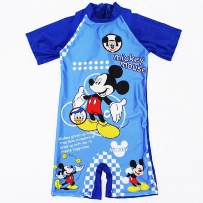 Ready Stock Korean Fashion Short Sleeve Kids Swimsuit Boys Swimwear 521160