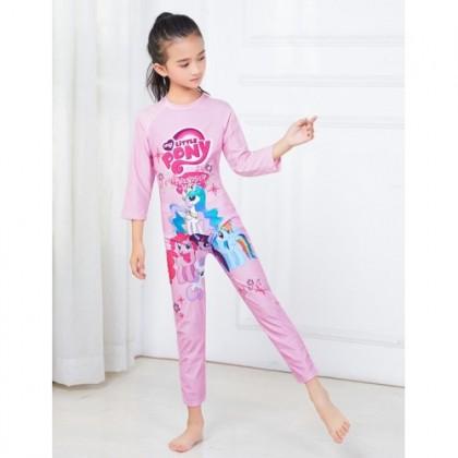 Ready Stock Korean Fashion Long Sleeve Girls Swimsuit Children's Swimwear 531168