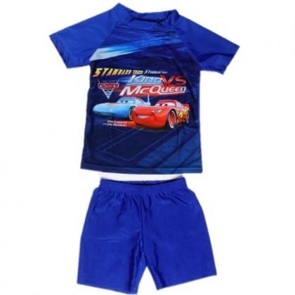 Ready Stock Short Sleeve 2pcs Sets Kids Swimsuit Boys Swimwear Beach Wear 521362