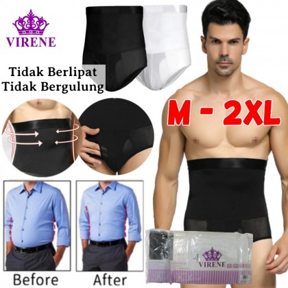 Ready Stock Men High Waist Slimming Underwear Fitness Tummy Body Shaper 431124